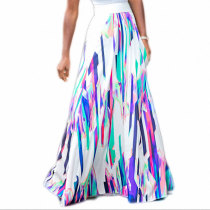 Multicolor Printed Long Skirt