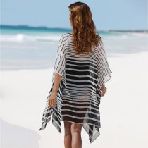Striped Cover Ups Beach Wear
