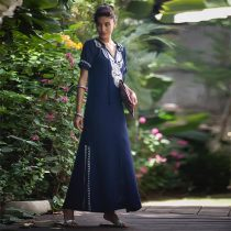 Hippie Abaya Embroidered Women's Maxi Dress