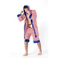Men New Stripe Boxing Costume