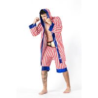 Men New Stripe Boxing Costume