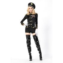 Fashion Long Sleeve Police Cosplay With Hat