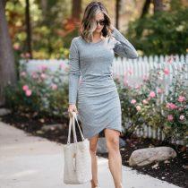 Long Sleeves Slits Mini Dress