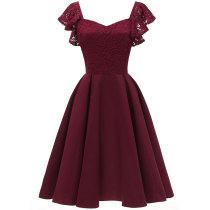 Women's Elegant Cocktail A-line Lace Dress