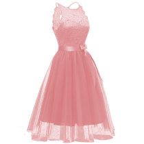 Women's Fashion A-line Lace Sleeveless Cocktail Dress