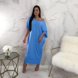 Solid Color Loose Maxi Dress