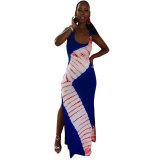 Low-cut Sexy Slim Sleeveless Maxi Lantern Dress