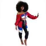 Fashion Patchwork Multicolor Two-piece Pants Set