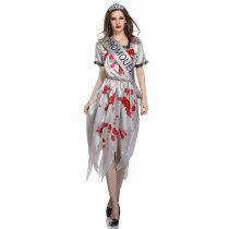 Gothic Vampire Zombie Bride Costume