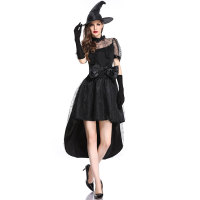 Black Witch Costume With Hat