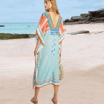Luxe V Neck Beach Caftan