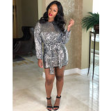 """The """"Silver"""" Sequin Dress"""