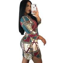Fashion Print Shirt Dress