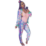 Printed Splicing Two-piece Sets