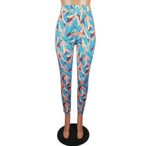 Color Printed Casual Trousers