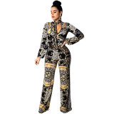 Egyptian Printed Women's Jumpsuit