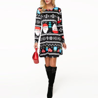 Long Sleeve O Neck Christmas Dress