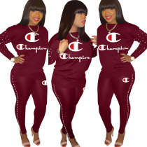 Printed Two Pieces Tracksuit Outfits