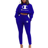Autumn and Winter Casual Sports Letter Offset Pants Set