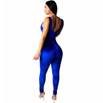 Straps Velvet Jumpsuits