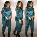Aria Angel Sequin Sweatsuit Pant Set