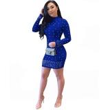 Trendy Beading Mini Dress
