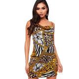 Bohemian Leopard Printed Mini Dress