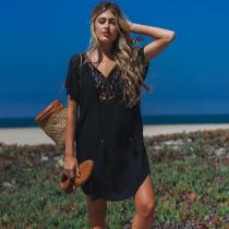 Cotton Lace Beach Holiday Beach Dress
