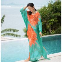 Sunflower Chiffon Cover Up Beach Kaftan Sarong