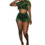 Sexy Transparent Shorts Set