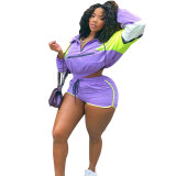 Casual Multi-color Sports hooded Women Two Piece Outfits