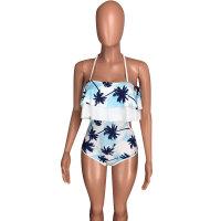 Fashion Sexy Wave Ruffled Swimsuit