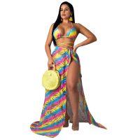 Chiffon Bikini Set with Cloak Three Piece Set