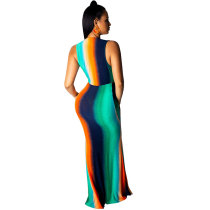 Colorful Butterfly Maxi Dress