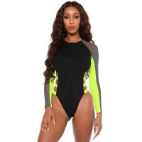 Casual Mesh Stitching Sexy One Piece Swimsuit