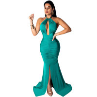 Halter Backless Evening Dress