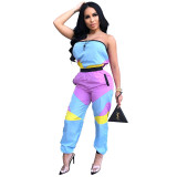 Casual Strapless Tube Jumpsuit