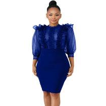 Delicate Crochet Body Con Dress