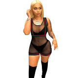 Mesh Stitching Perspective Romper