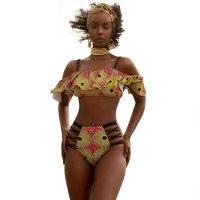 Printed Fungus Sling Bikini Set