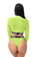 OMG ICON Long Sleeve Swimsuit