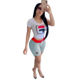 Casual Sports Shorts Two-piece Sets