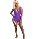 Sleeveless Tassel Swimsuit