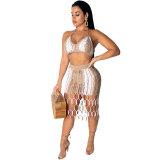 Summer Matching Hand Woven Beach Skirts Set