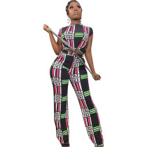 Casual Printed Two Piece Set