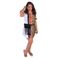 Casual Print Leopard Mini Dress