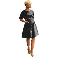 Casual Loose Shirt Midi Dress