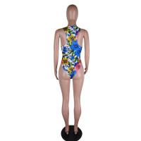 Fashion Floral Print One Piece Swimsuit