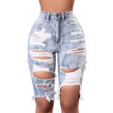 Worn Washed Denim Pants