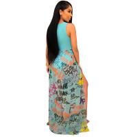 Stitched Openwork Sexy Strap Dress